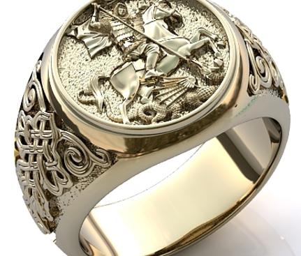 купить серебряный перстень с солярным знаком